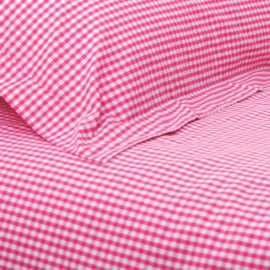 Classic Gingham Hot Pink Check Duvet Single Duvet Set for Girls Children Bedding Kids Pure Cotton