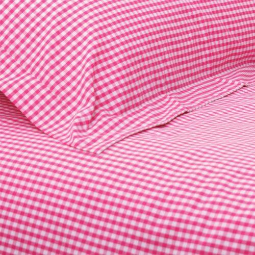 Hot Pink Gingham Duvet Set (Single)