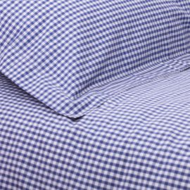 Classic Gingham Navy Check Duvet Single Duvet Set for Girls and Boys Children Bedding Kids Pure Cotton