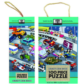 Crazy Car Race Car Puzzle for Kids Green Start Toys and Games Innovative Kids