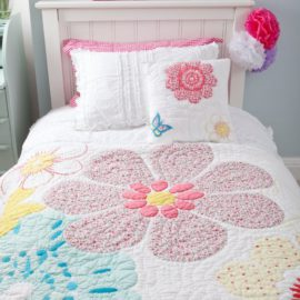 Daisy Floral Quilt for Girls Bedding Bedroom Teenager Decor Children Pure Cotton
