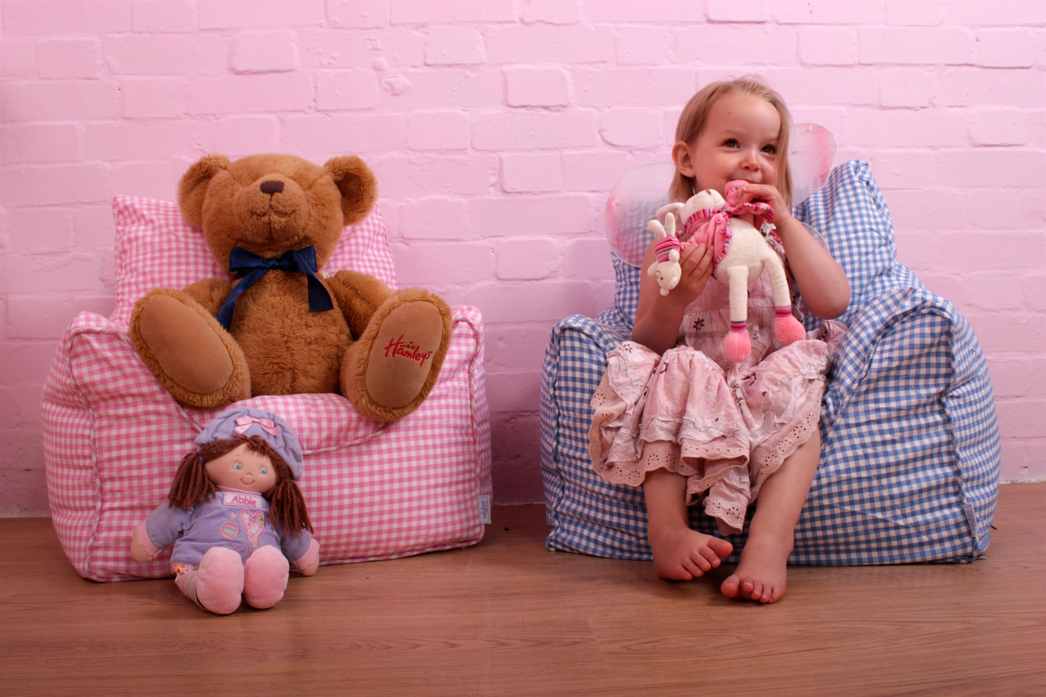 Beanbag Chair Pink Gingham for children & kids in S A