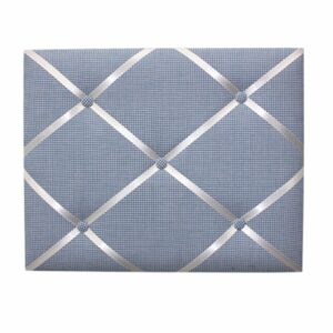 Fabric Message Board - Navy Gingham
