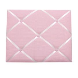 Gingham Message Board Memo Pink for Kids Notes Organisation Storage Fabric