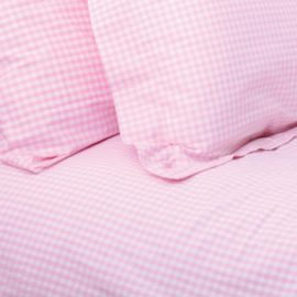 Gingham Pink Check Duvet Single Duvet Set for Girls Teenagers Bedding Kids Pure Cotton