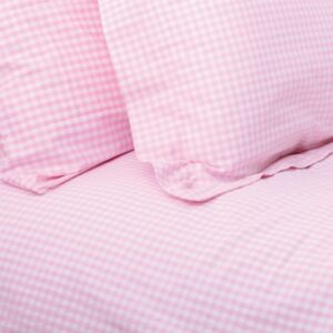 Pink Gingham Duvet Set (Single)