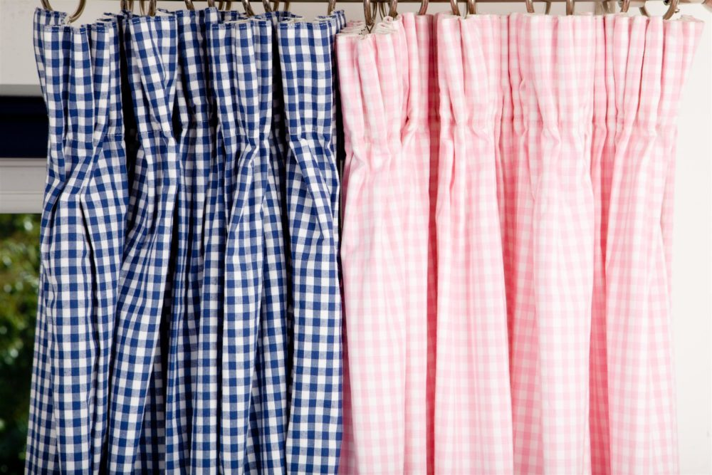 Pink Gingham Pleated Curtains For Children Amp Kids In S A