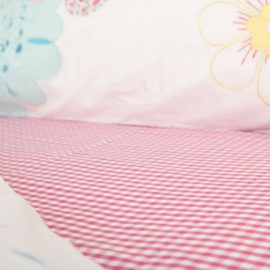 Hot Pink Gingham Fitted Sheet
