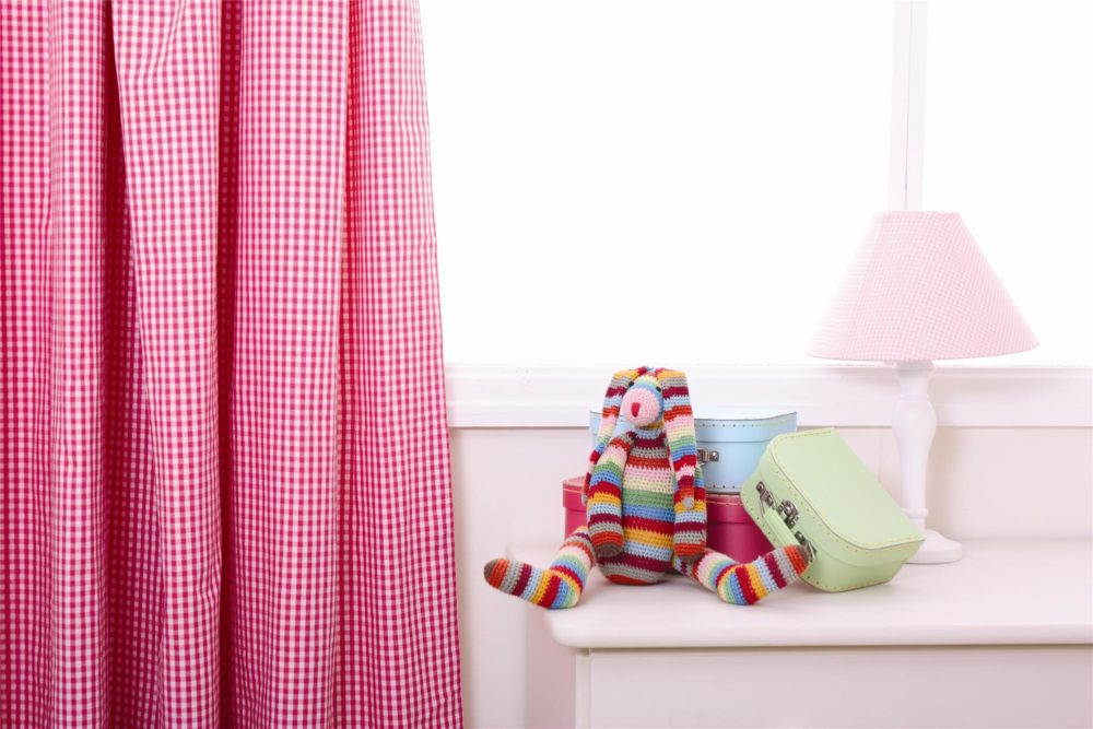 Hot Pink Gingham Pleated Curtains For Children Amp Kids In S A