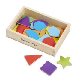 Magnetic Wooden Shapes & Colours Set for Kids Early Learning Melissa & Doug
