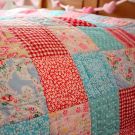 Matilda Patchwork Quilt for Girls Bedding Bedroom Pure Cotton