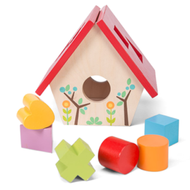 My Little Bird House Shape Sorter for Children Toddlers Early Years Toys Wooden Le Toy Van Petilou