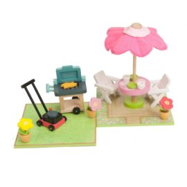 Patio and BBQ Set for Kids Pretend Play Dolls House Accessories for Kids Wooden Toys Le Toy Van Daisylane