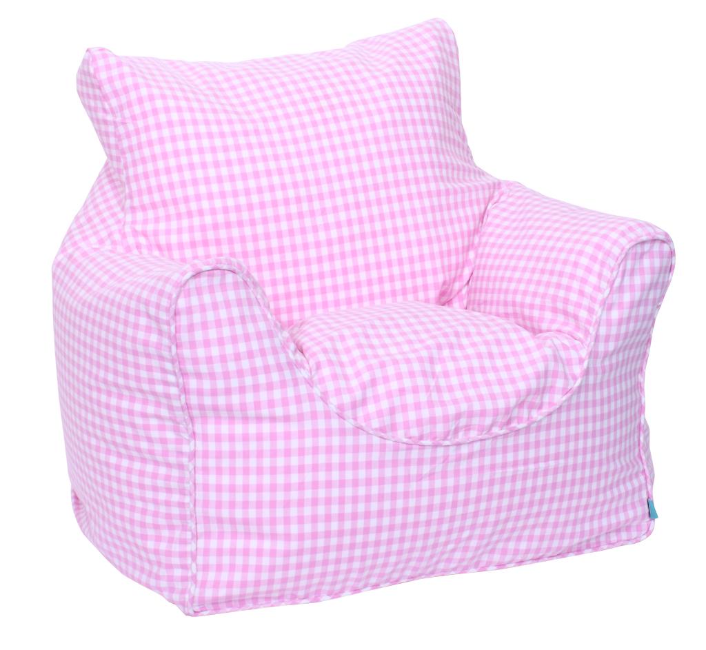 Pink bean bag chair - Beanbag Chair Pink Gingham