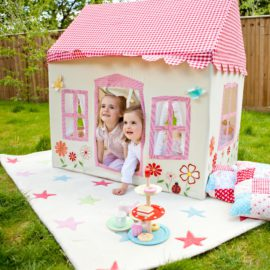 Playtent Primrose Cottage Playtent for Kids Outdoor and Indoor Pretend Play