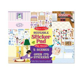 Reusable Sticker Pad for Girls Play House Melissa and Doug Arts and Crafts On the Go Kids
