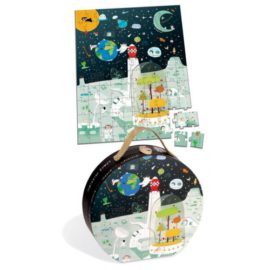 Space Mission Puzzle Jigsaw Hat Box Janod for Kids