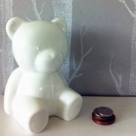 Teddy Bear Money Box for Kids Children Fine Bone China Gift Christening
