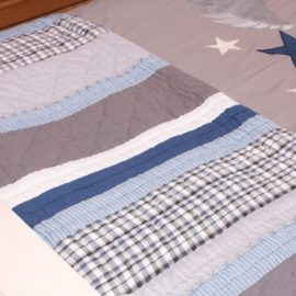 Varsity Quilt for Boys Bedding Bedroom Pure Cotton Teenagers