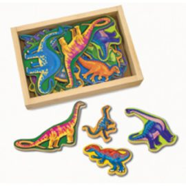 Wooden Dinosaur Magnets for Children Boys Pretend Play Toys Melissa & Doug