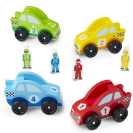 Wooden Race Cars Vehicles for Kids Melissa & Doug Pretend Play