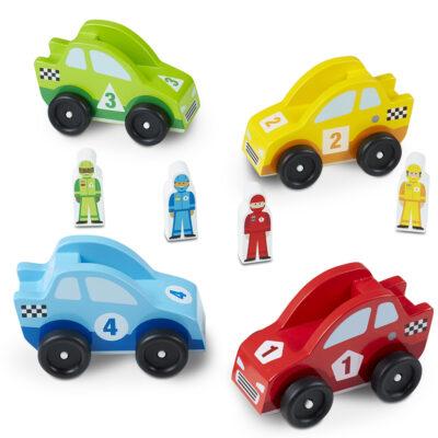 Wooden Race Car Vehicle Set