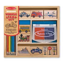 Wooden Vehicles Stamp Set for Kids Melissa & Doug Arts and Crafts