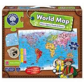 World Map Jigsaw Puzzle and Poster for Kids Children Games Orchard Toys