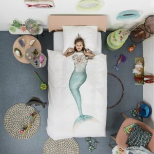 Mermaid Duvet Set - White (Single)