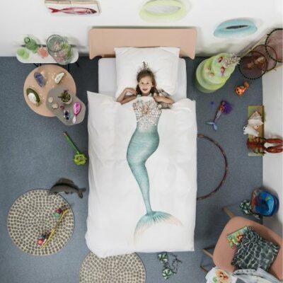 Mermaid Duvet Set - White (Single)