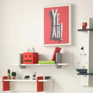 Anywhich Way Wall Shelf - White by Little Folks