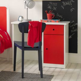 Frooti Desk for Kids Boys and Girls Children Study Homework Furniture Red White Storage British Design Quality