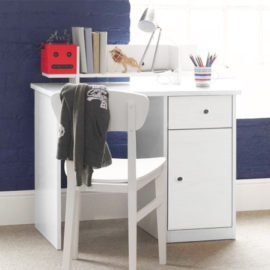 Frooti Desk for Kids Boys and Girls Children Study Homework Furniture White White Storage British Design Quality
