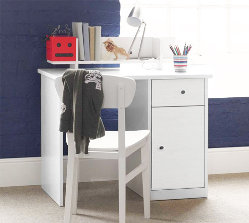 Frooti Desk For Kids Boys And Girls Children Study Homework Furniture White  White Storage British Design