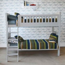 Fargo Bunk Bed Bunker Farleigh Grey for Kids Bedroom Children Classic Solid Wood Tongue and Groove Detail