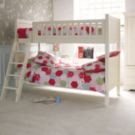 Fargo Bunk Bed - Ivory White by Little Folks for Kids Bedroom solid wood