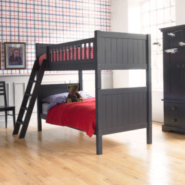 Fargo Bunk Bed Painswick Blue by Little Folks for Kids Bedroom Solid Wood Kids Decor