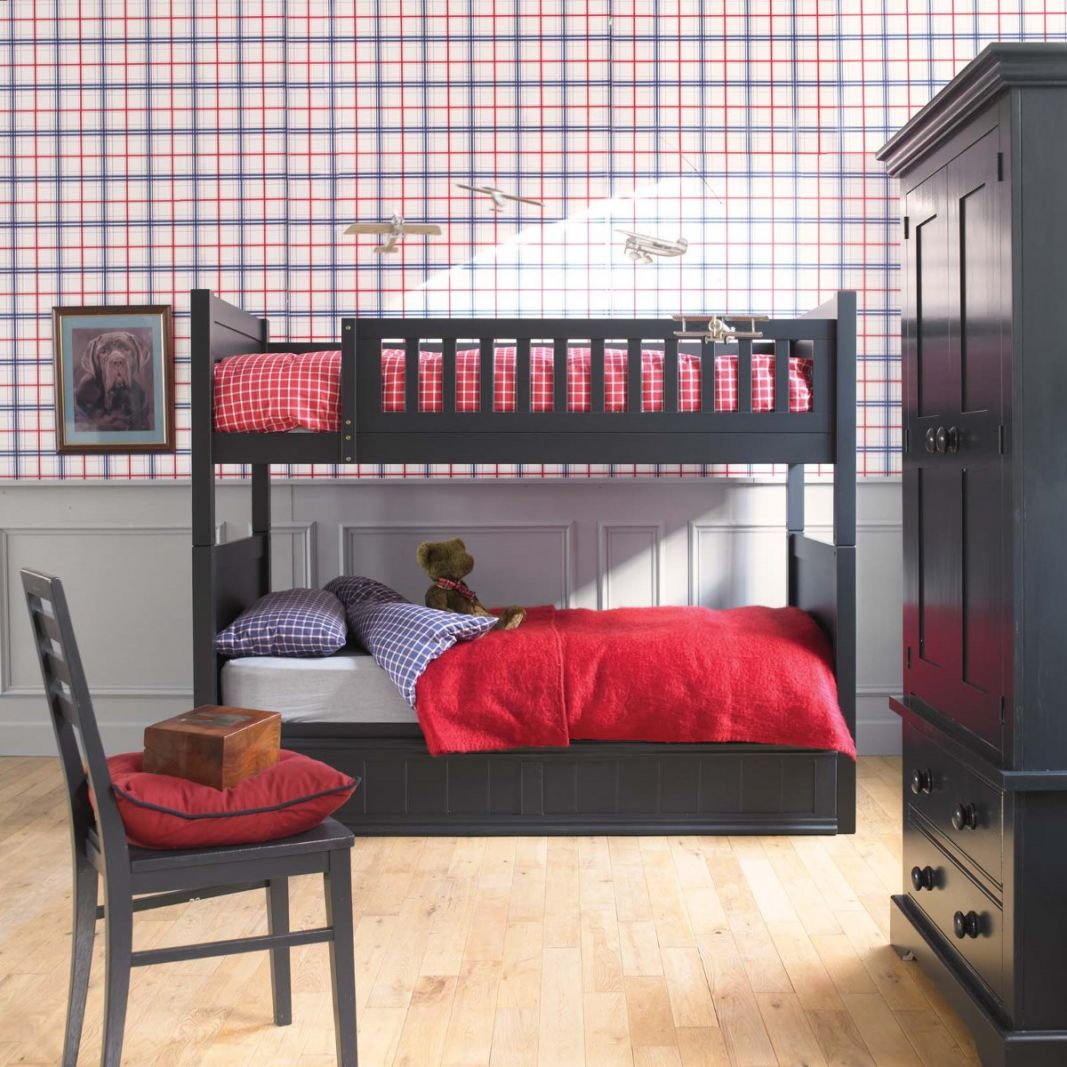 Fargo bunk bed painswick blue by little folks for children in s a Unfinished childrens bedroom furniture