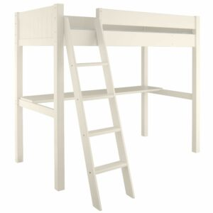 Fargo Highsleeper Bed with Desk - Ivory White by Little Folks