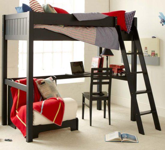 Fargo Highsleeper Bed Desk Futon Painswick Blue By Little Folks Kids In S A