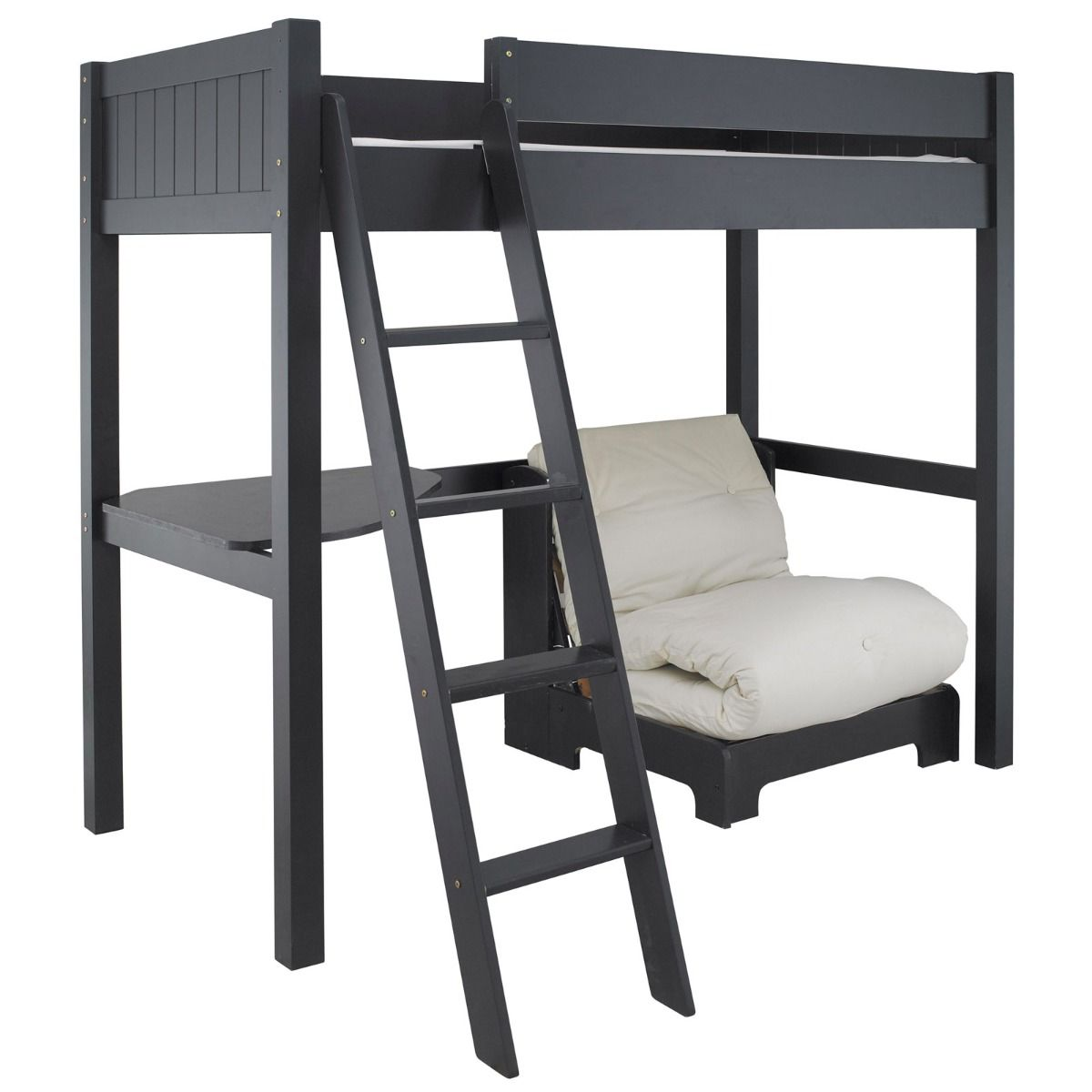 Fargo highsleeper bed desk futon painswick blue by for High sleeper bed
