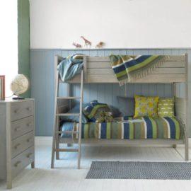 Woodland Bunk Bed Grey Ash by Little Folks for Kids Children Bedroom Solid Wood Furniture