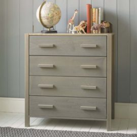 Woodland Chest of Drawers Grey Ash by Little Folks for Kids Children Solid Wood Furniture