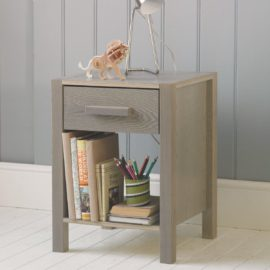 Woodland Nightstand Grey Ash by Little Folks for Kids Children Solid Wood Furniture