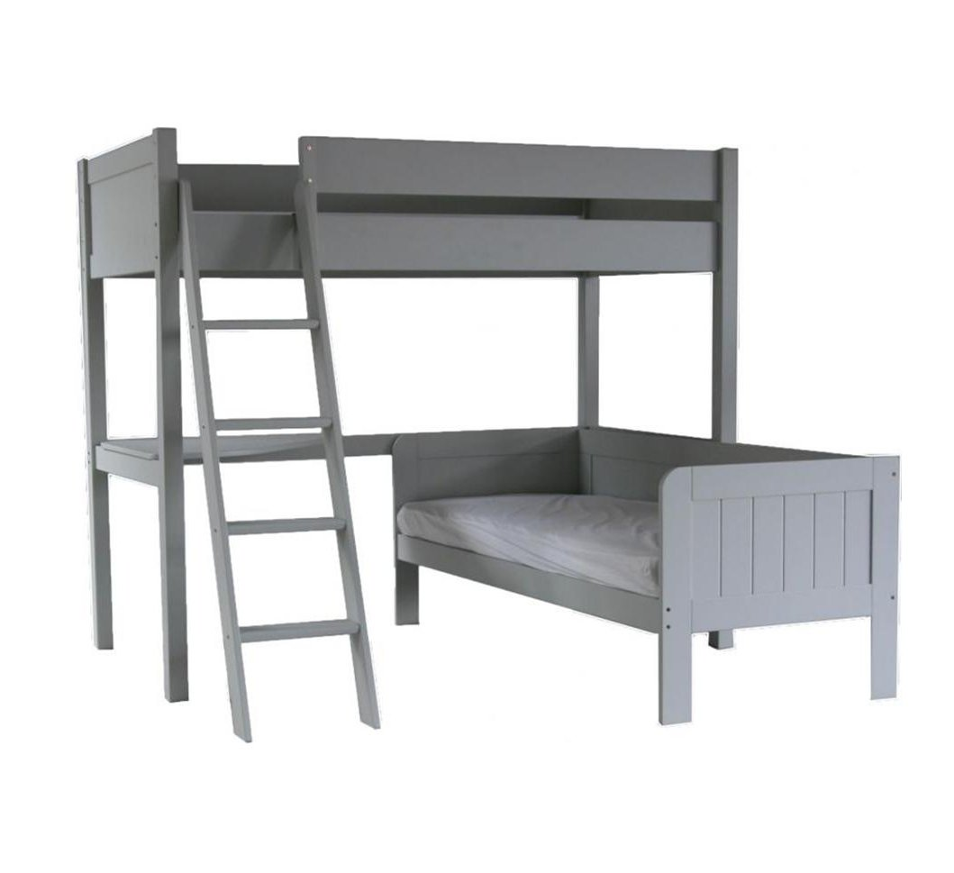 Fargo highsleeper bed daybed desk farleigh grey by for Corner bed table