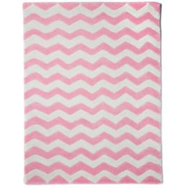 Pink Chevron Rug Cream Kids Bedrooms Decor Girls Wool Childrens Rooms