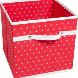 Red Star Fabric Storage Box for Kids Bedroom and Playroom Childrens Decor