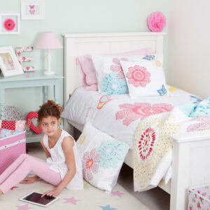 Daisy Floral Girls Bedroom