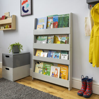 Wooden Bookcase - Pale Grey by Tidy Books®