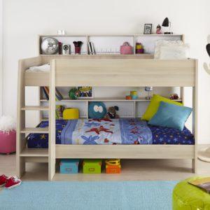 Charly Bunk Bed - Acacia finish